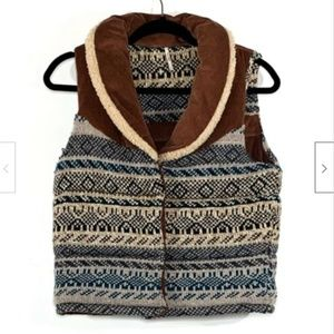 Free People Corduroy Connection Snap Up Wool Vest